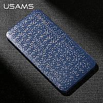 Внешний аккумулятор Power bank USAMS Mosaic 10000 mah Blue, фото 9