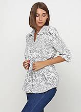 Сорочка, Блузка з коротким рукавом, вільного покрою з поясом (білий)
