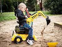 Великий дитячий екскаватор + КАСКА, фото 1