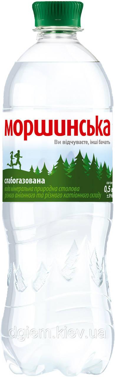 """Вода мінеральна слабогазована 0,5 л """"Моршинська"""", ПЕТ"""