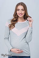 Стильный свитшот для беременных и кормящих Orla р. 44-50 ТМ Юла Мама Серый e331a8bde1c3f