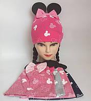 Детская трикотажная шапка для девочки p 50-52 польша оптом