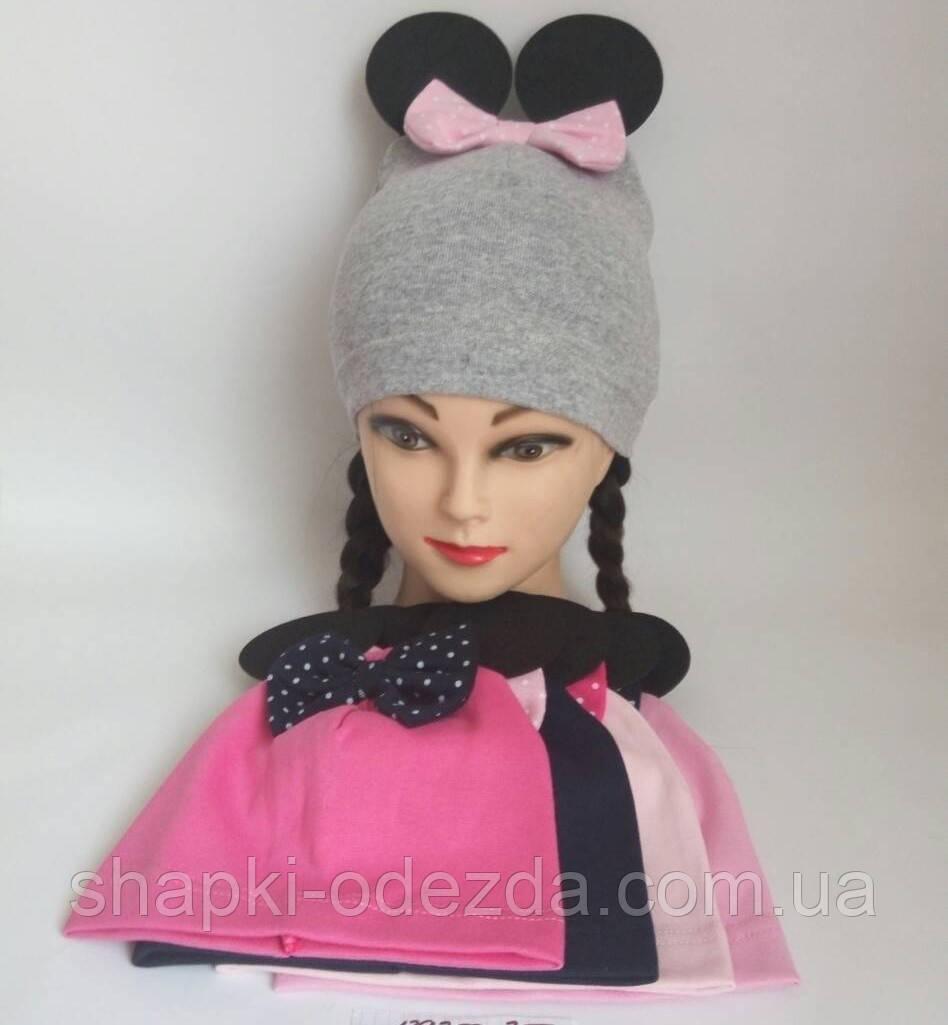 Детская трикотажная шапка для девочки р 50-52 польша оптом