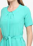 """Блузка женская с поясом однотонная зелёная """"Кери"""" , фото 8"""