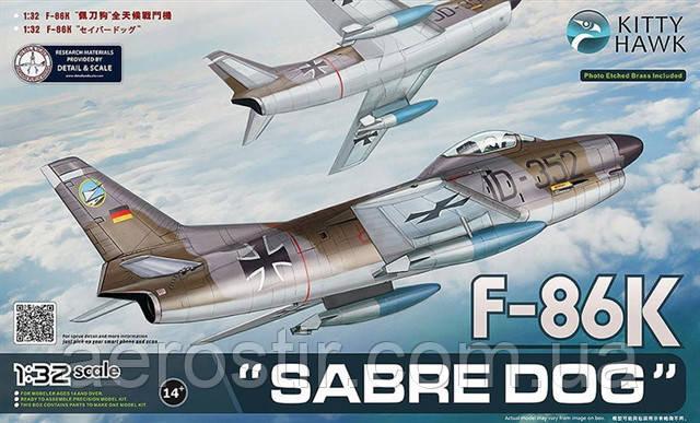 "F-86K ""Sabre Dog"" 1/32 Kitty Hawk 32008"