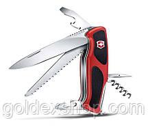 Нож Складной Мультитул Викторинокс Victorinox RANGERGRIP 55 (130 мм) Оригинал, красно-черный 0.9563.C