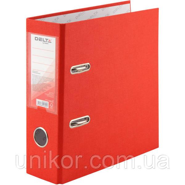 Регистратор 7,5 см., А5 односторонняя, красный. Delta by Axent