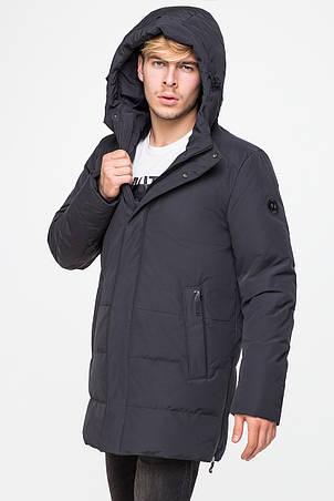 Стильная удлиненная зимняя куртка для мужчин CW18MD060DN (черная #701), фото 2