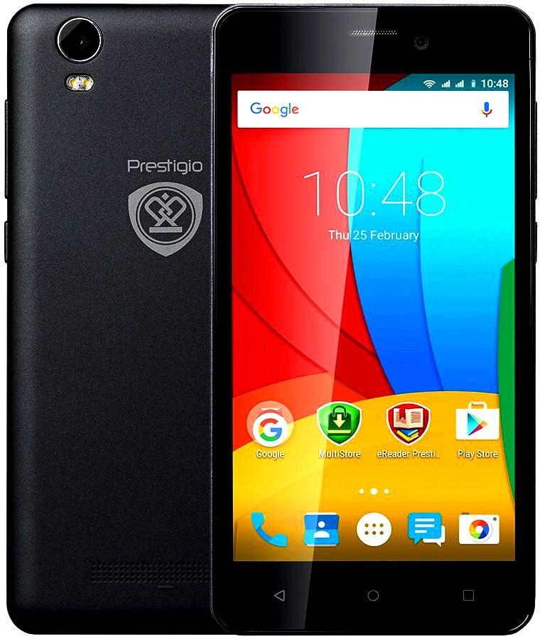 Смартфон Prestigio 5502 1/8Gb Black Камера 8 МП