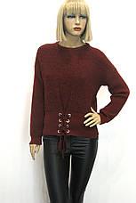 Жіночий вязаний джемпер светр реглан , фото 3