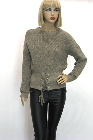 Жіночий вязаний джемпер светр реглан , фото 2