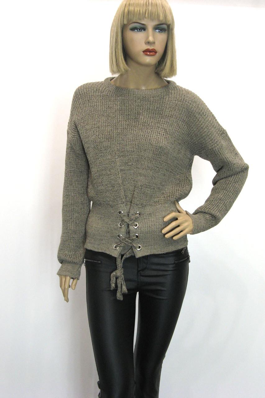 Жіночий вязаний джемпер светр реглан