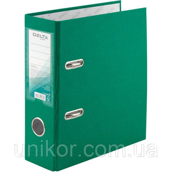 Регистратор 7,5 см., А5 односторонняя, зеленый. Delta by Axent