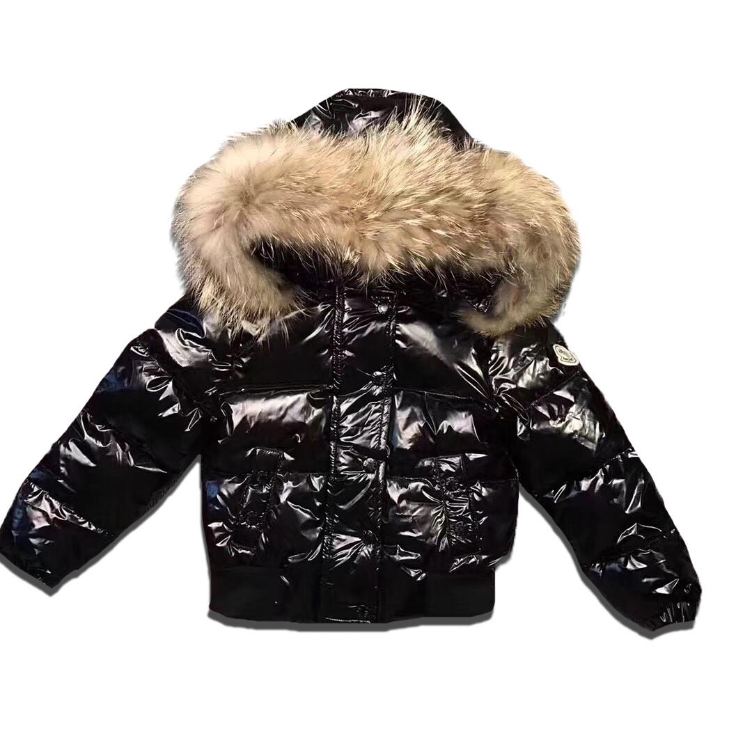 Детская курточка Sabbi черная блестящая на пуху