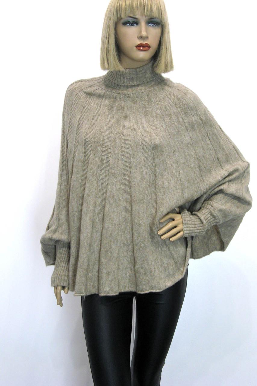Жіночий гольф светр реглан полувер оверсайз вільного крою