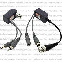 Передатчик-приёмник аудио-видео сигнала и питание по витой паре комплект 2шт