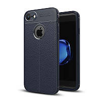 Чехол Apple Iphone 7 силикон Original Auto Focus Soft Touch темно-синий