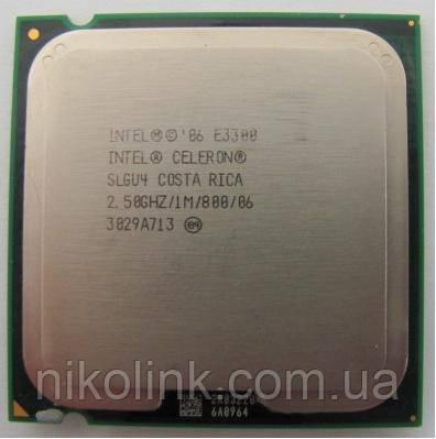 Процессор Intel Celeron E3300 2.50GHz/1MB/800MHz, s775 (BX80571E3300) Tray комиссионный товар