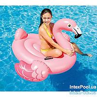 Надувной плот Intex Фламинго 142 х 137 х 97 см, фото 1
