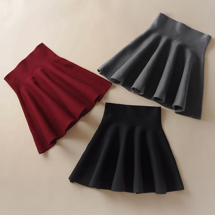 Женская трикотажная юбка  (серая)