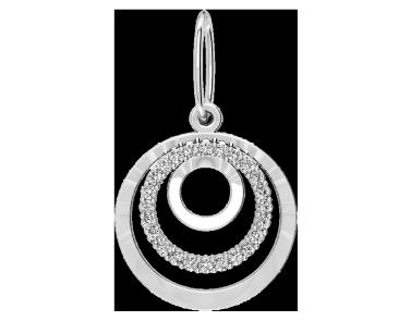Подвеска - кулон серебряная Нежность 60178