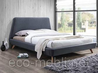 Двоспальне ліжко з мякою оббивкою Gant 160 szary Signal