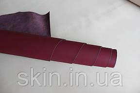 Спилок натуральной кожи для кожгалантереи фиолетового цвета, толщина 1.2 мм, арт. СК 2215, фото 2