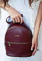 Компактный кожаный рюкзак-трансформер Марсала, фото 1