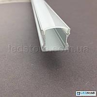 LED профиль + крышка  для светодиодной ленты накладной 18х15 мм, фото 1