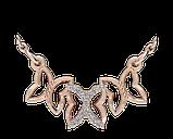 Подвеска - кулон серебряная Бабочки 60180, фото 2