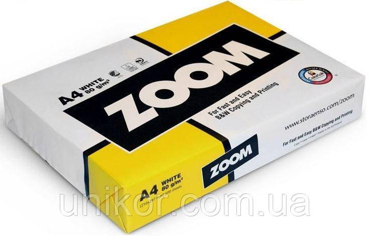 Бумага А4, 80 г/м2, 500 листов. Zoom