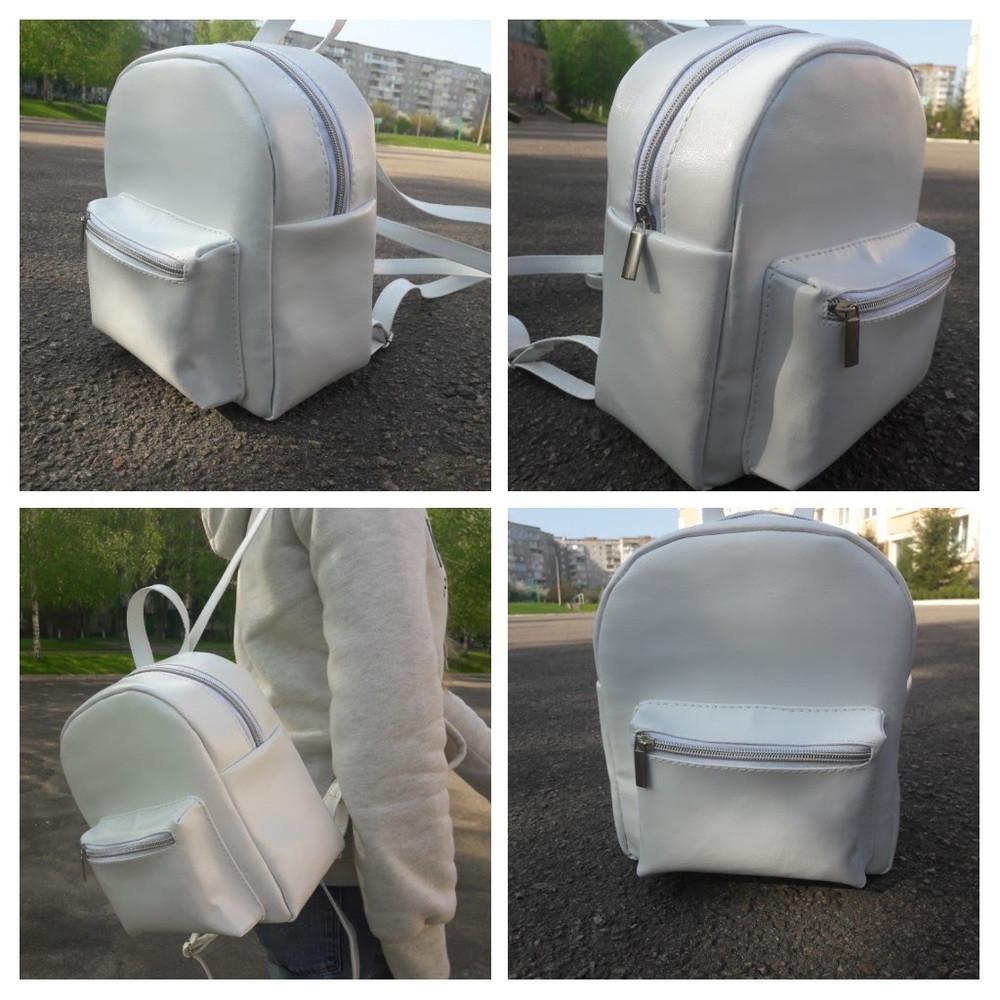 Женский рюкзак белый Sambag Брикс разные размеры 11117008