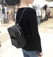 Женский рюкзак SamBag маленький черный эко-кожа разные размеры 11221001