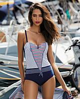 Модный слитный женский купальник бандо F54 466, фото 1