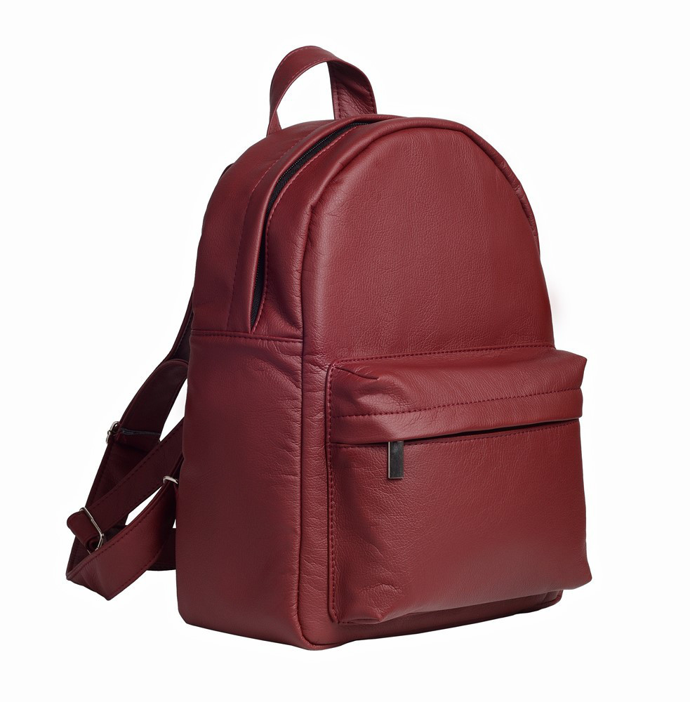 Женский рюкзак городской Sambag Брикс бордовый разные размеры 11411005