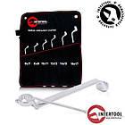 Набор накидных ключей 6шт. 6-17мм Cr-V, покрытие сатин-хром; PROF DIN3113 XT-1201