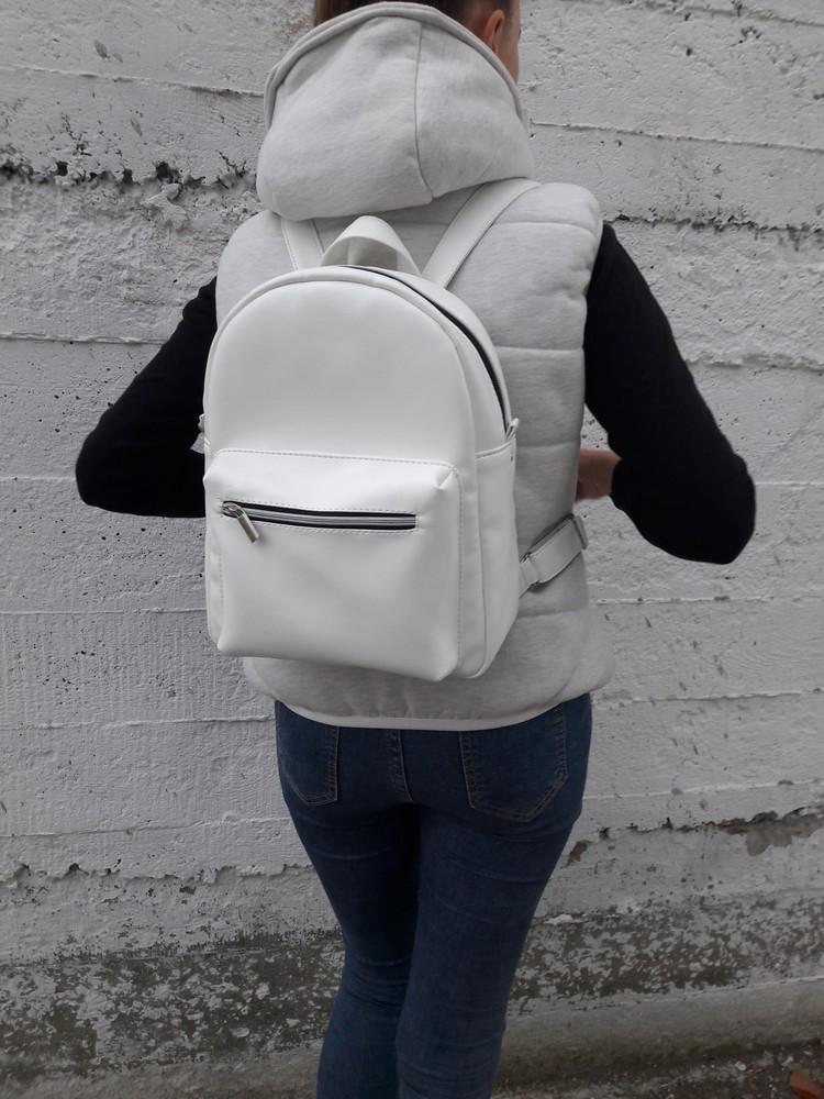e40a8163898f Женский рюкзак городской Брикс Sambag белый (рюкзачок, жіночий рюкзак,  рюкзак, стильный рюкзак