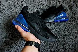 Мужские кроссовки в стилеNike Air Max 270 Black/Blue