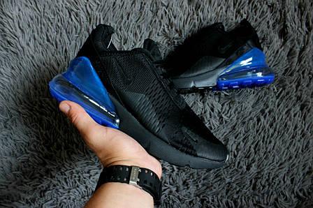 Мужские кроссовки в стиле Nike Air Max 270 Black Blue   продажа ... be88934d7ef