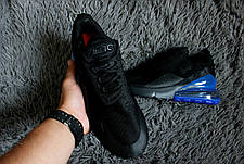 Мужские кроссовки в стиле Nike Air Max 270 Black/Blue , фото 3