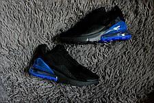 Мужские кроссовки в стиле Nike Air Max 270 Black/Blue , фото 2