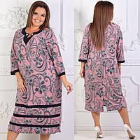 Женское нарядное батальное платье  в размерах 58-64, фото 1