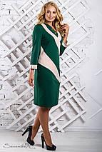 Женское двухцветное трикотажное платье больших размеров (2319-2317-2318 svt), фото 3
