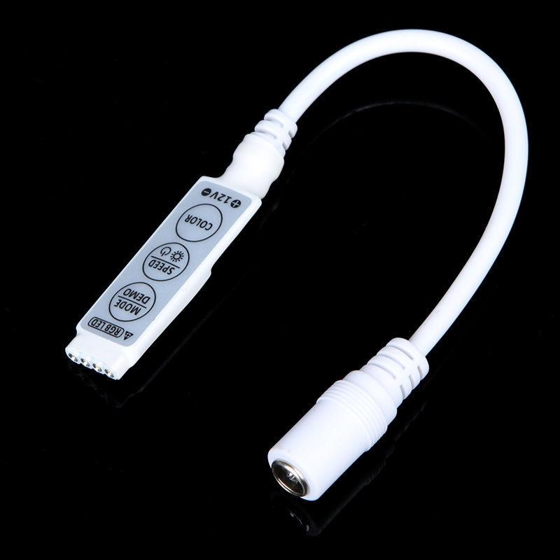 RGB контролер 12A mini 144W 12V 3 кнопки для світлодіодної стрічки.