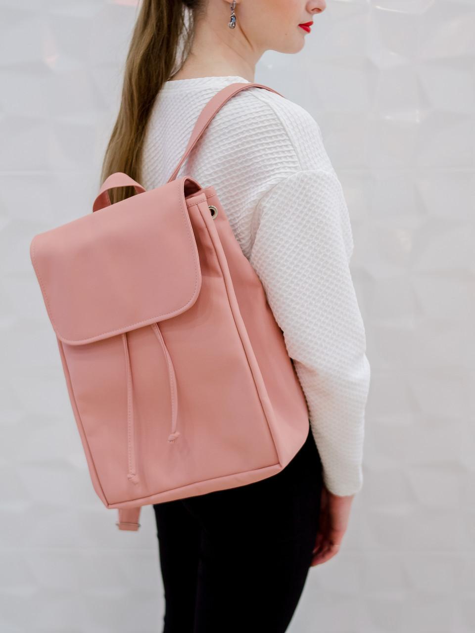 Женский рюкзак пудровый SamBag разные размеры 22400006 розовый эко-кожа