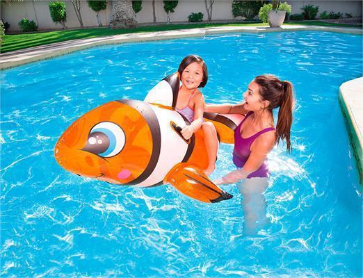 Игрушка для катания верхом Рыба-клоун Bestway 157х94 см (41088)