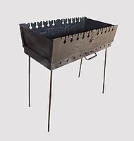 Мангал разборной на двухуровневый 10 шампуров (мангал-чемодан)