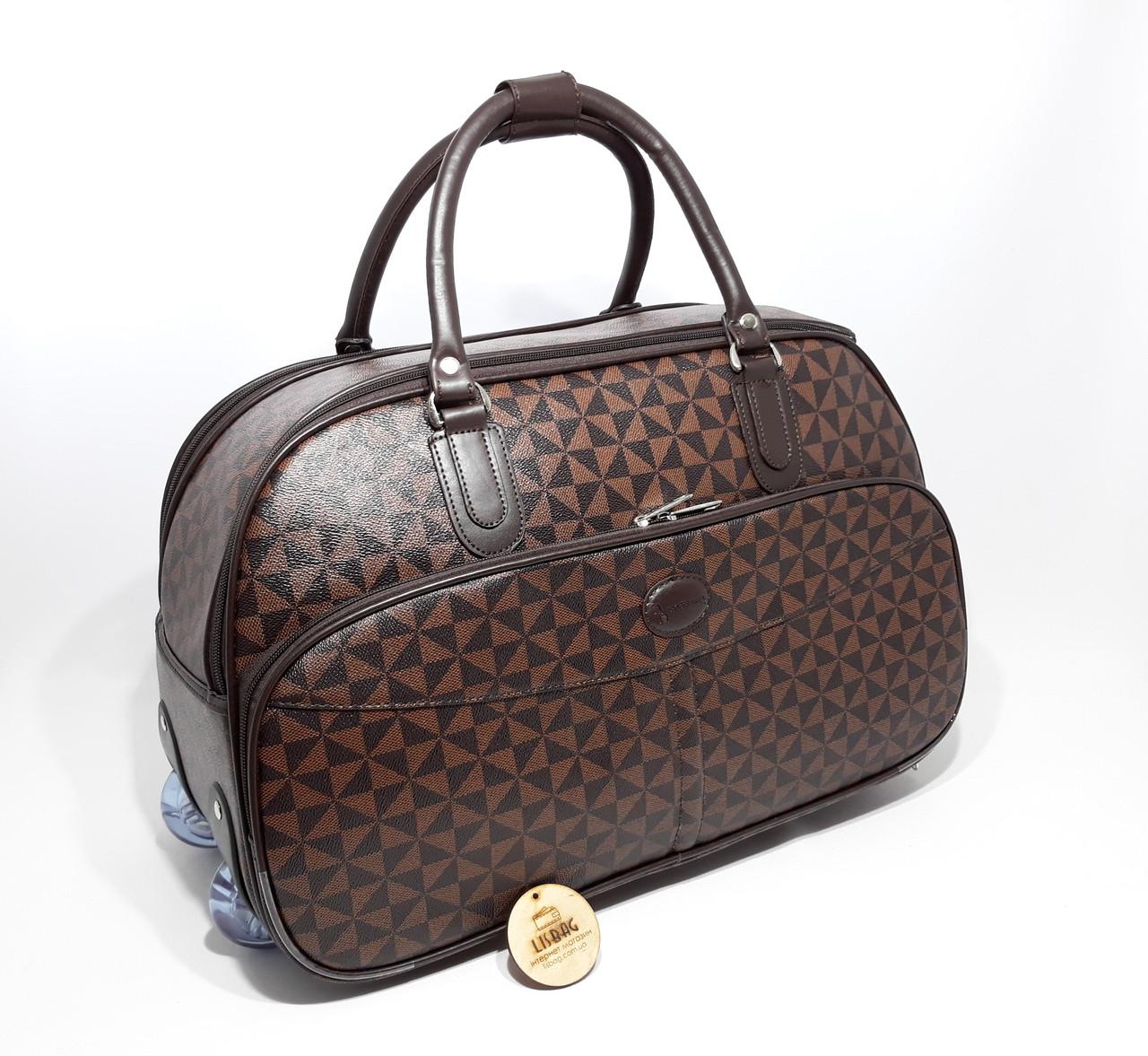 902f596f5831 ... Сумка на колесах большая XL Коричневая (59*31*38) чемодан дорожная сумка  ...