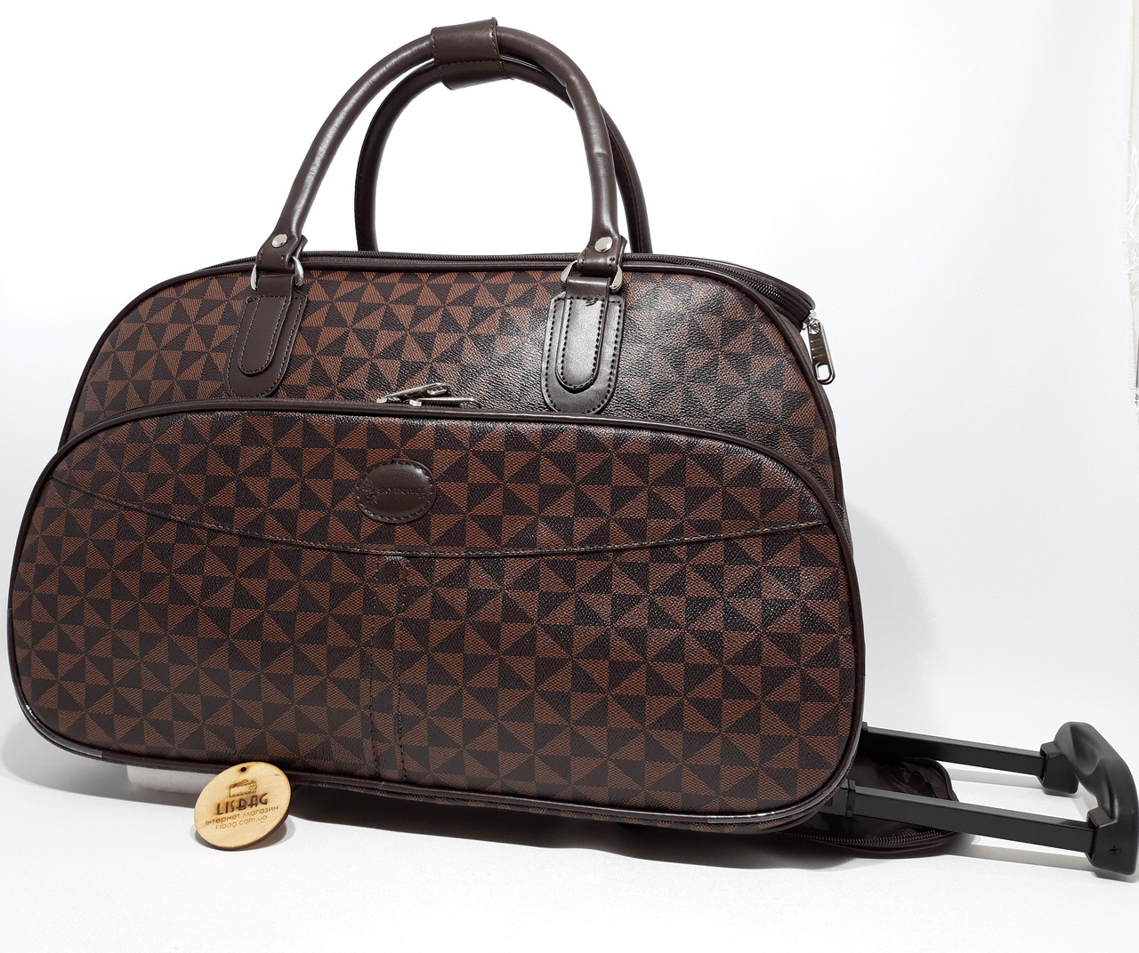 a6a9bb7d8435 Сумка на колесах большая XL Коричневая (59*31*38) чемодан дорожная сумка