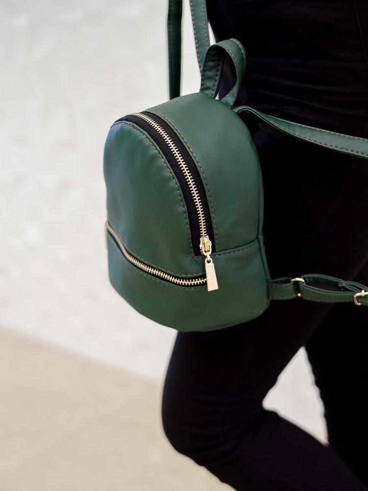 Мини рюкзак для девушек на лето зеленый